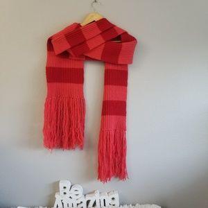 MARC JACOBS Wool Bold Stripe Fringe Scarf